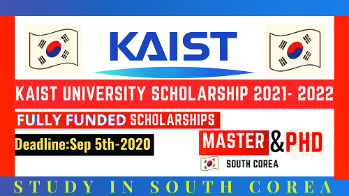 STUDY IN SOUTH COREA | KAIST University Scholarship 2021- 2022 | FULLY FUNDED || Careers Help Line