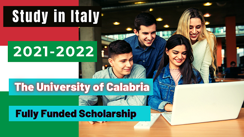 Study In Italy _ The University of Calabria Fully Funded Scholarship 2021- 2022 _ Careers Helpline