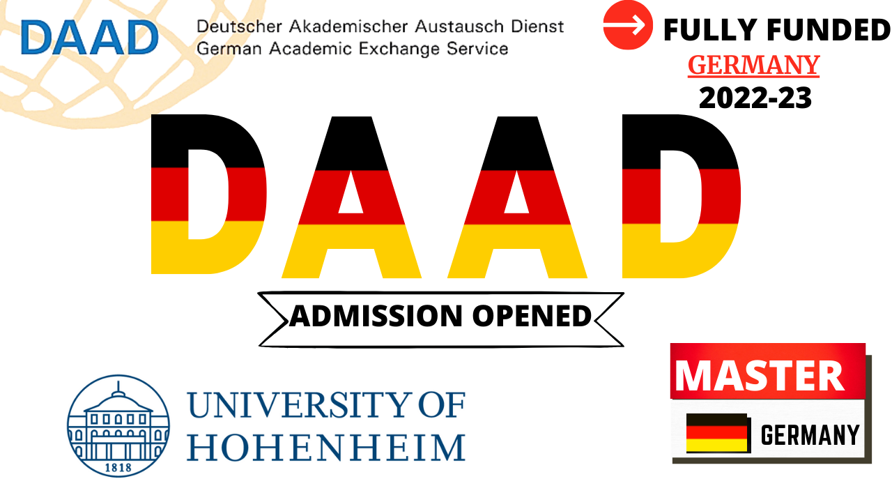 DAAD Fully Funded Scholarships 2022-23 at University of Hohenheim For All International Students