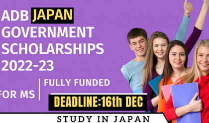 Fully Funded ADB Japan Government Scholarships 2022-23 | For MS | Careers Helpline