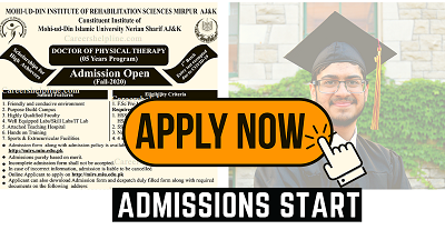 Admission Started At| Mohi-ud-din Islamic University (MIU) (Mir Pur) || Careers Help Line