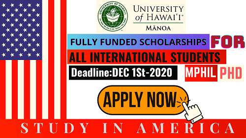 STUDY IN AMERICA | Hawaii University Scholarships (USA) 2021-2022 | For All International Students || Careers Help Line