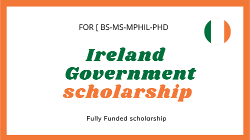 Ireland Government fully funded scholarship