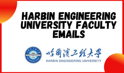 Harbin Engineering University China Faculty Emails