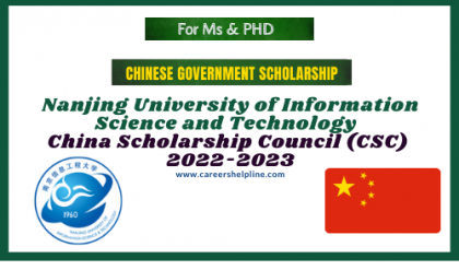 Nanjing University of Information Science and Technology csc Scholarship 2022