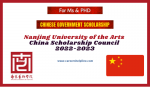 Nanjing University of the Arts Chinese Government Scholarship 2022