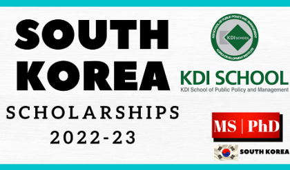 Fully Funded KDI School Of Public Policy & Management Scholarships 2022-23 | For MS And PhD