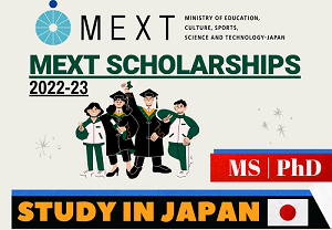 Mext Japan Government Scholarships 2022-23 | MS For 2 Year and PhD For 3 Year | Careers Helpline