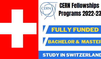 Fully Funded CERN Junior Fellowship Switzerland 2022-23 | For BS and Master